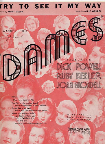 vintage art deco sheet music 1934, by Movie-Fan