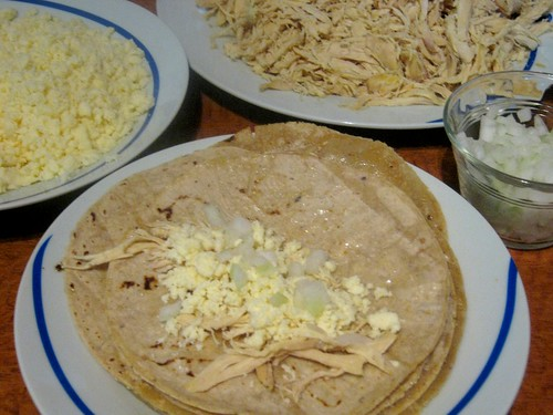 Enchiladas de Mole Prep 6
