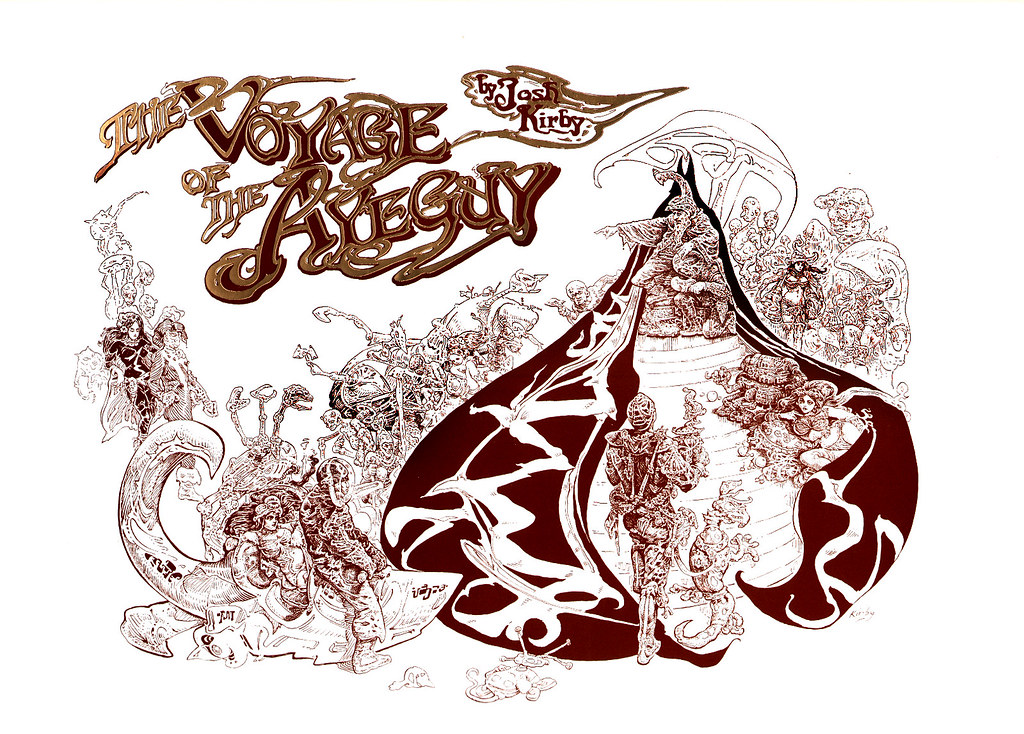 Josh Kirby - The Voyage Of The Ayeguy (Title Page) 1980