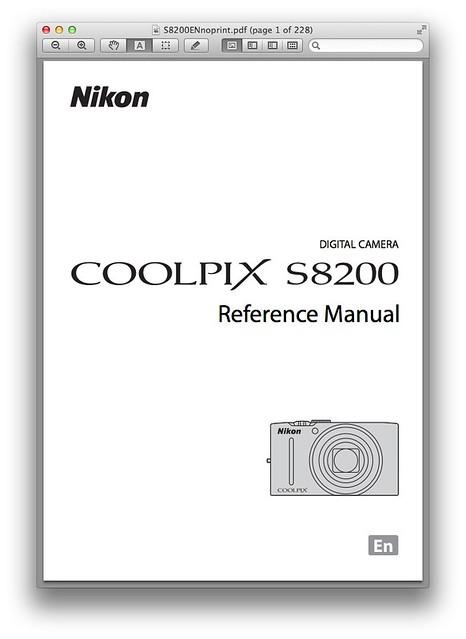 Nikon S8200 Manual