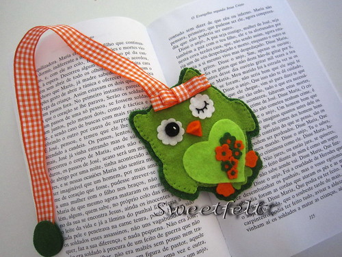 ♥♥♥  Marcador coruja ;) by sweetfelt \ ideias em feltro