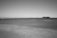 Still Waters (12Jeepgirl~Never look back...) Tags: ocean longexposure travel bw gulfofmexico water pier blackwhite nikon florida historic vignetting annamariaisland digitalcameraclub d700