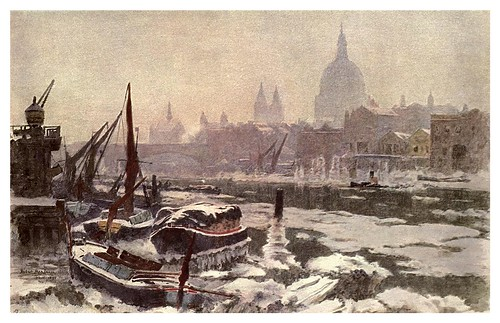 006-El Tamesis en un invierno severo- Herbert M. Marshall-The old Water-Colour Society-1905-Charles Holme