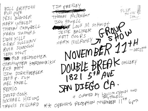 UPCOMING GROUP SHOW NOV 11th by Michael C. Hsiung