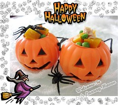 Creepy Halloween Pumpkin Treats (Blackswanst) Tags: food holiday home cooking halloween vegetables kids festive pumpkin cuisine diy healthy singapore cook eat tips squash recipes tuna greenpeas