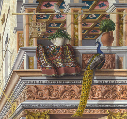 Carlo Crivelli - Annunciation, detail 2c peacock - London NG by petrus.agricola