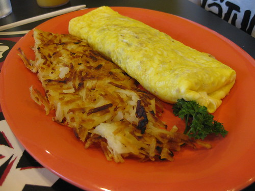 boots & kimo's corned beef hash omelette