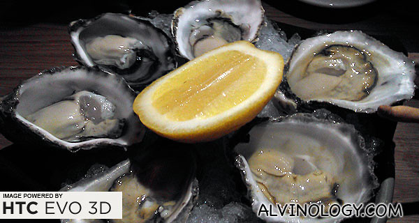 Oysters of different variety