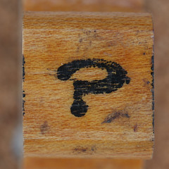 rubber stamp handle question mark