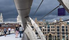 padlocks (Joe Dunckley) Tags: uk england london bridges millenniumbridge stpaulscathedral streetscape streetscapes padlocks