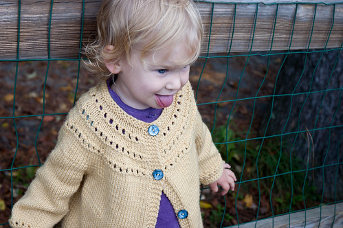 E's sweater, modeled