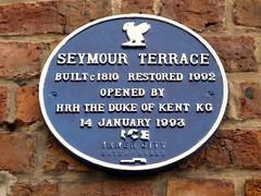 Photo of Seymour Terrace blue plaque