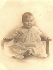 well-behaved little girl (or boy) (Addie-B) Tags: portrait baby vintage photo 1930s child 1940s photograph