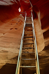 Ascend (dbushue) Tags: abstract art nature water stairs landscape climb sandstone scenery wind native shapes canyon erosion maze descend flowing ladder navajoreservation palette slotcanyon ascend escalate 2011 pageaz lowerantelopecanyon