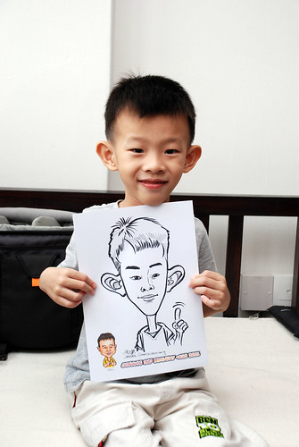 Caricature live sketching for Jonah's birthday party - 3