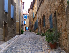 Cobbles and shutters (Country Bumpkin Rosie) Tags: france village shutters cobbles