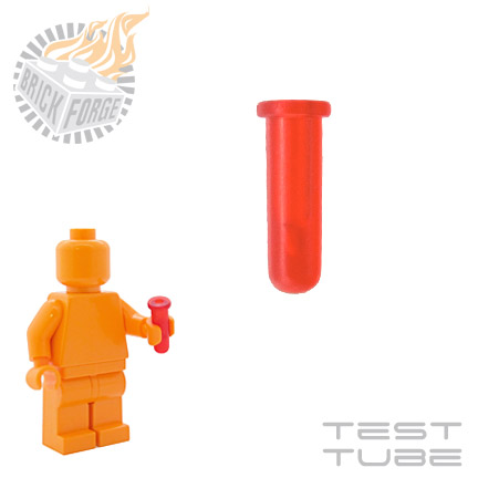 Test Tube - Trans Red