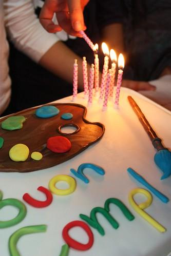 torta per una giovane artista