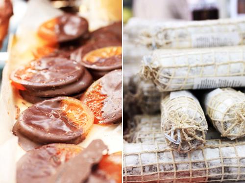 Salami e arance candite: al cioccolato