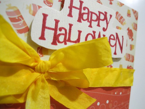 Happy Halloween Candy Card (detail)