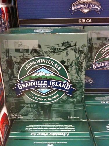 Granville Island Lions Winter Ale. Mmm, beer.
