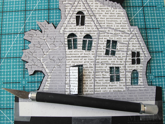 7 Cut out windows with a hobby blade or exacto knife