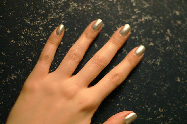 Metallic Silver Nail Polish, Fashion photography