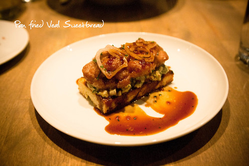 Pan Fried Veal Sweetbread on Toast