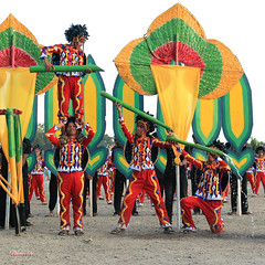 Bamboo Pipeline (Dylan Uy) Tags: water festival children colorful dancing native philippines bamboo cultural mati mindanao attire streetdancing davaooriental dylanuy sambuokan