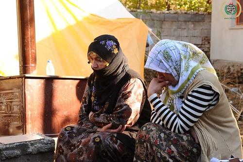 Turkey, Van earthquake, IHH relief effort, October 28 2011.