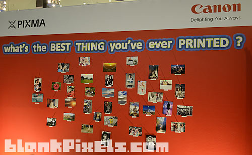 The photo wall at the Canon PIXMA launch