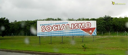 Socialism Signs and Banners Along the Cuban Roads