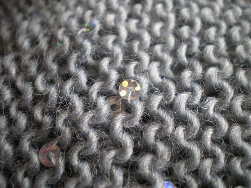 Silver Knitting With Sequins