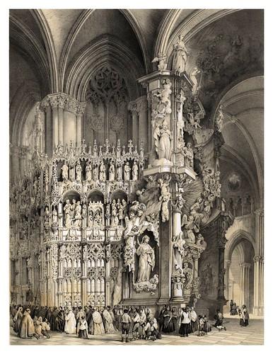 002-El Altar transparente en la catedral de Toledo-España artística y monumental..Tomo I- 1842-1850-Genaro Perez de Villa-Amil