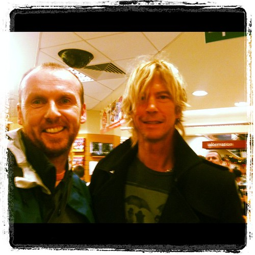Meeting the infamous Duff McKagan earlier in #Easons. #GNR #GunsNroses #Rocknroll #Legend #Duff by Gribers