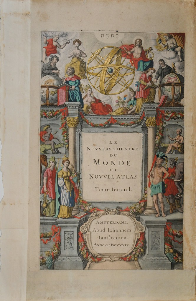 astronomy/colonial/discovery-themed atlas titlepage