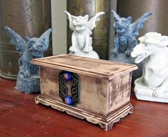 Miniature Mysterious Chest Filled with Bundles of Mysteries ~1:12th Scale