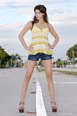 beautiful road blocker project, Megan (MigRodz) Tags: street beautiful model nikon niceshot miami trio blocker qflash d700