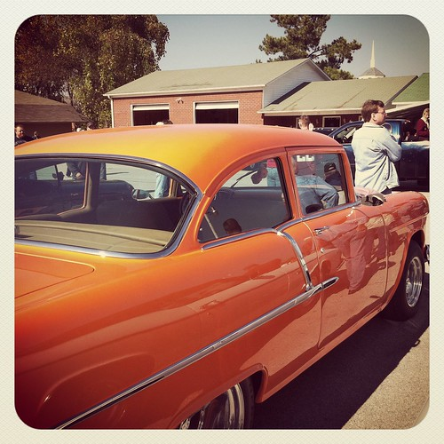 Antique Orange Car