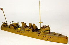 110. WWII Folk Art Hand Made US Navy Ship Gun Boat