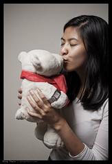 _7050330 copy (mingthein) Tags: bear portrait girl face asian nikon kiss bokeh g flash bob plush le jaeger polar nici ming speedlight afs lecoultre onn nadiah reverso 6028 strobist thein coultre d700 sb900 photohorologer mingtheincom afs6028g