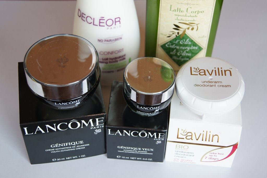 Beauty products: Lancome, Decleor, Lavilin, Mediterraneo