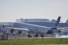 [12:45] ..A340-600 test flight: touch-and-go on 14R [3]. (A380spotter) Tags: prototype 600 airbus toulouse touchdown blagnac 001 tls a340 testbed touchandgo testflight 14r fwwca lfbo airbussas piste14r msn0360 runway14r