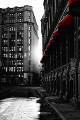 light is everything (series) (explore) (stephane (montreal)) Tags: street light shadow red urban white black color rouge photography noir montreal coloring et blanc stephane selective urbaine paquet 2011