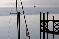 the end of the season (claude05) Tags: sailingboat lakeconstance calmingdown zellersee hri boatlandingstage