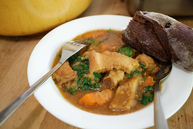 Pork belly stew