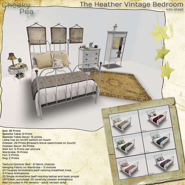 Heather Vintage Bedroom Ad
