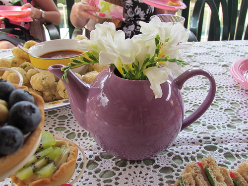 Teapot with Freesias