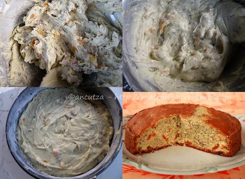 immagini preparazione torta dolce patate vitellote e albicocche secche