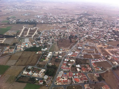 Approach to Larnaca airport (Cyprus)